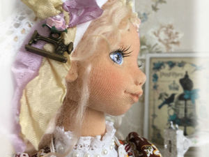Коллекционная авторская текстильная кукла.. Ярмарка Мастеров - ручная работа, handmade.