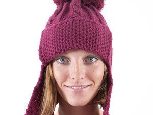 Теплые, интересные и очень необычные: вязаные шапочки с ушками. Ярмарка Мастеров - ручная работа, handmade.
