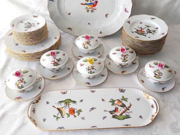 Великолепный столовый сервиз Herend, Rothschild | Ярмарка Мастеров - ручная работа, handmade
