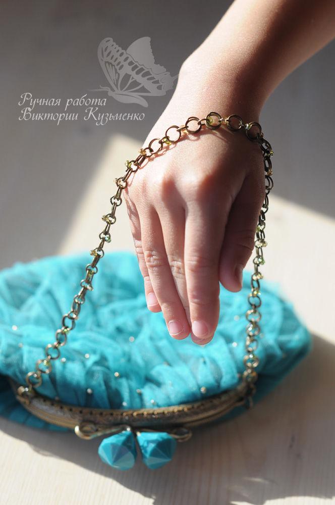 бирузовая сумочка