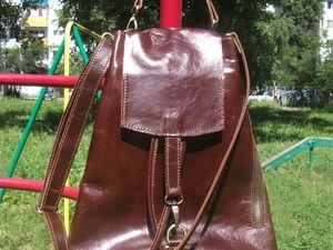 Сумка-торба, коричневая | Ярмарка Мастеров - ручная работа, handmade