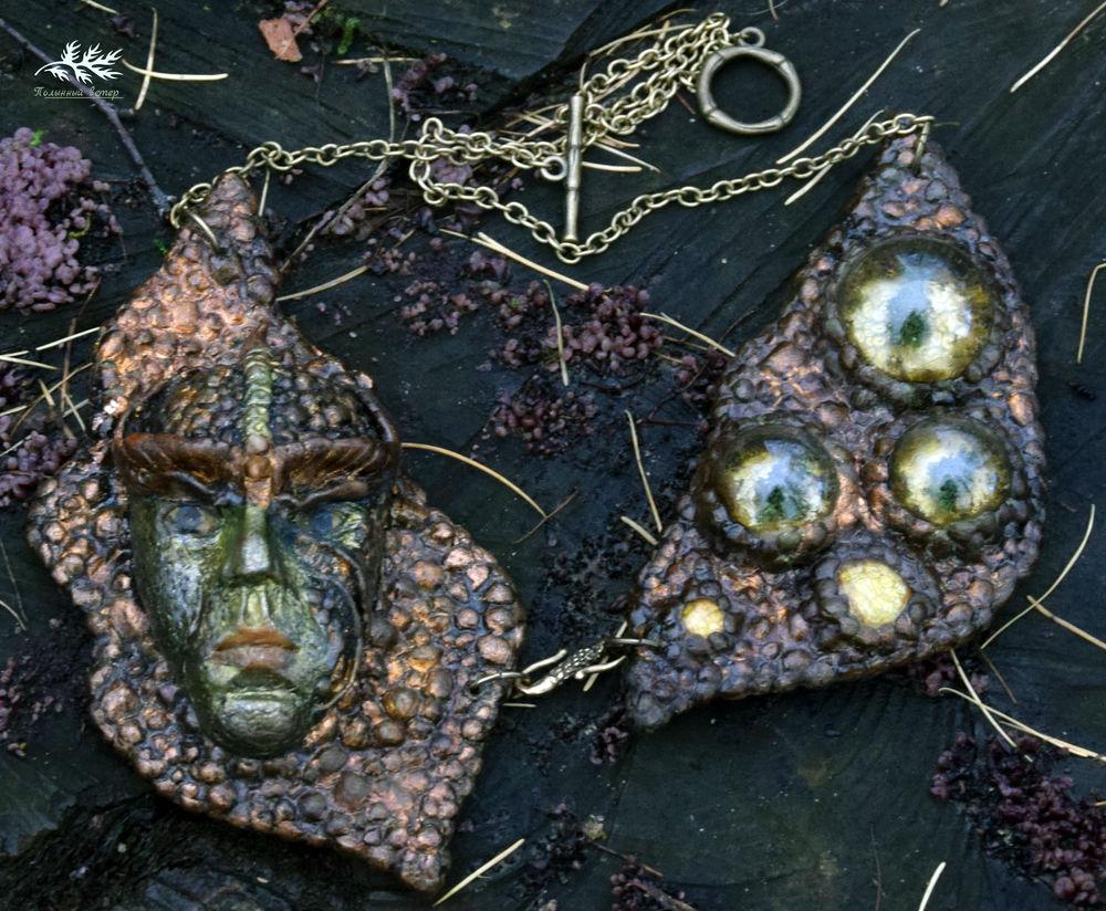 колье с ликом, лесные украшения, браслет