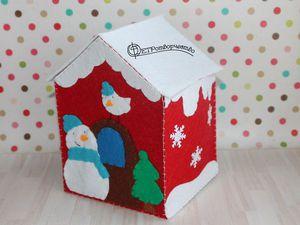 Делаем подарочную упаковку в виде фетрового домика. Ярмарка Мастеров - ручная работа, handmade.