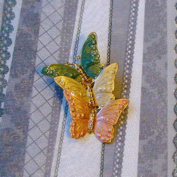 винтаж, бабочки
