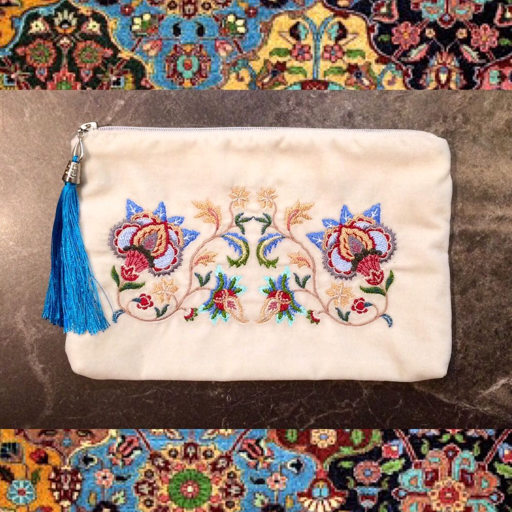 купить клатч с вышивкой, вышивка в русском стиле, подарок для женщины, купить бархатный клатч