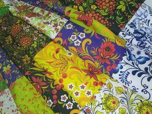 Ткань с русскими узорами. Ярмарка Мастеров - ручная работа, handmade.
