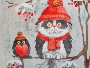 Снегири прилетели. Ярмарка Мастеров - ручная работа, handmade.