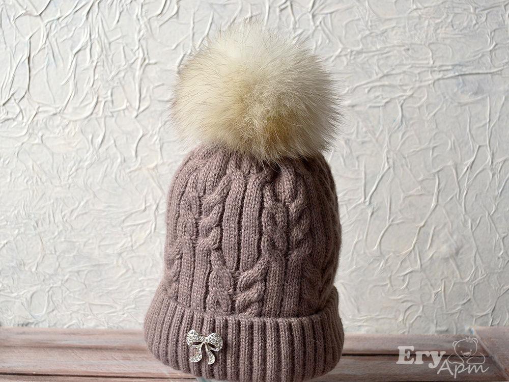 Крепим помпон на шапке, фото № 9