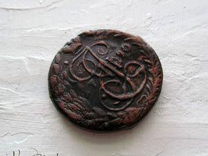 """Делаем молд """"Старая монета"""" из полиморфного пластика. Ярмарка Мастеров - ручная работа, handmade."""