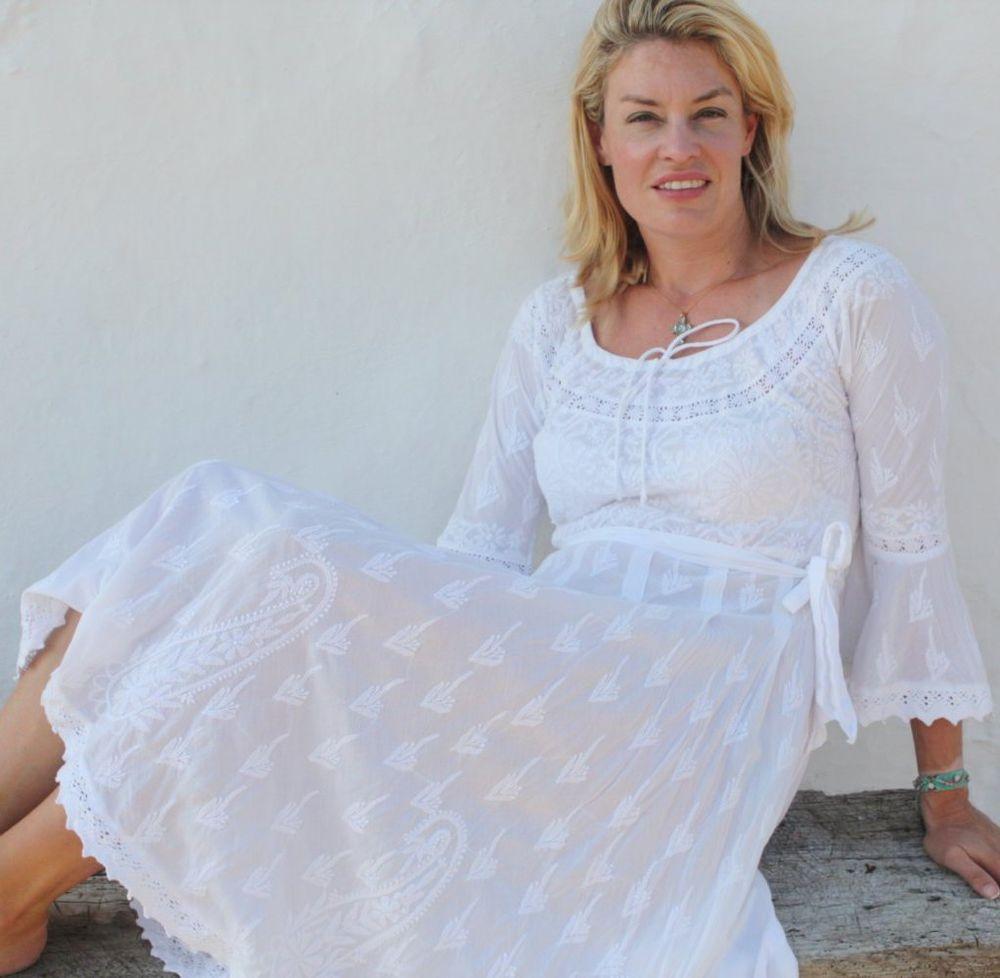 Белое бохо, или Шикарная одежда для королевы летнего пляжа, фото № 67