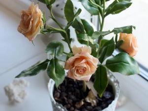 Кустовая роза из полимерной глины | Ярмарка Мастеров - ручная работа, handmade