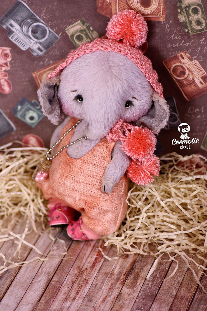 тедди слон, тедди слоник подарок, слоник своими руками