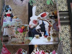 фотоальбом Алиса в стране чудес с элементами поп ап. Ярмарка Мастеров - ручная работа, handmade.