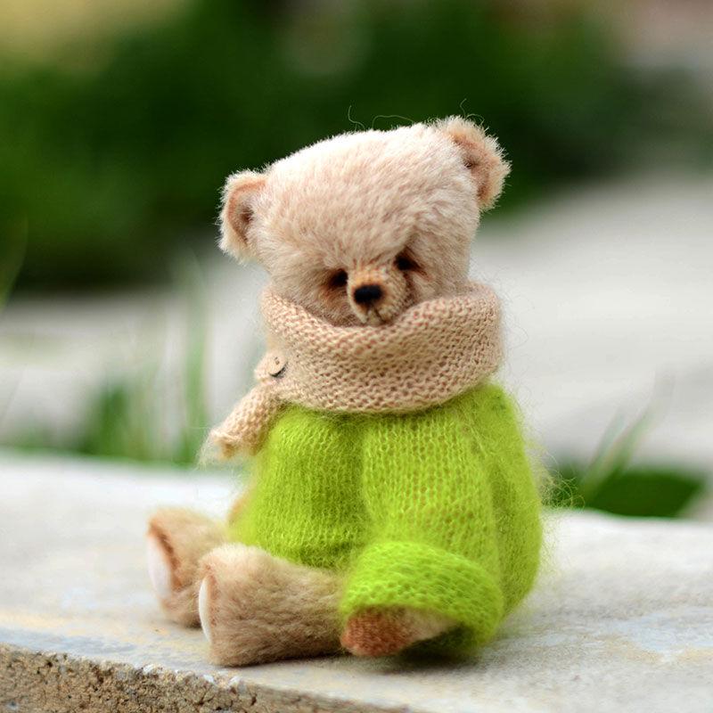 вязание для начинающих, мишки тедди в одежде