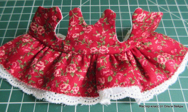 Сшить платье на маленькую куклу 211
