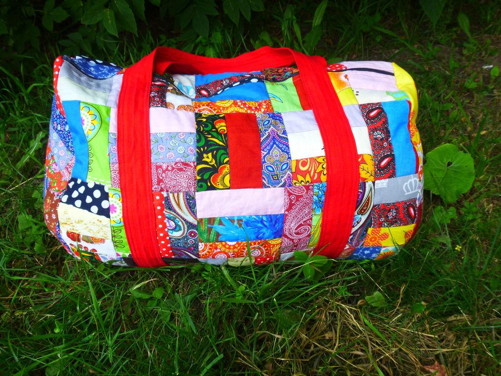 текстильная сумка, яркие цвета