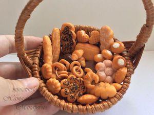 Хлеб и выпечка для кукольной миниатюры. | Ярмарка Мастеров - ручная работа, handmade