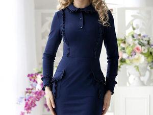Аукцион на стильное трикотажное платьице!!!Старт 1000 рублей !!!. Ярмарка Мастеров - ручная работа, handmade.