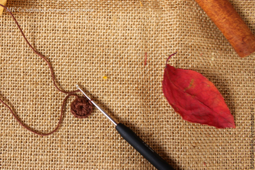 Symphony of Autumn Leaves: Creating a Textile Brooch, фото № 9