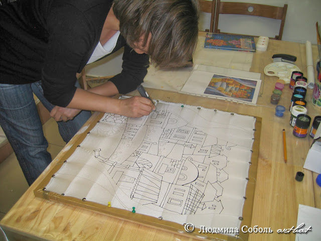 мастер-класс по батику, роспись по шелку, мастер-класс по росписи