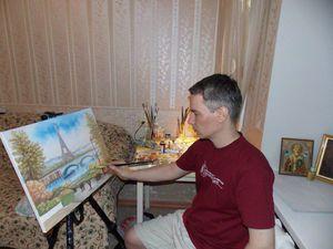 любимый художник и будущий муж. надеюсь на Бога   Ярмарка Мастеров - ручная работа, handmade