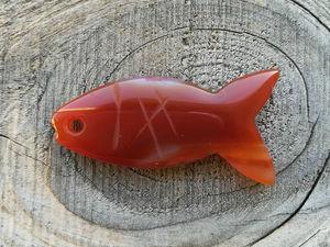Видео подвески из резного агата Рыба. Ярмарка Мастеров - ручная работа, handmade.