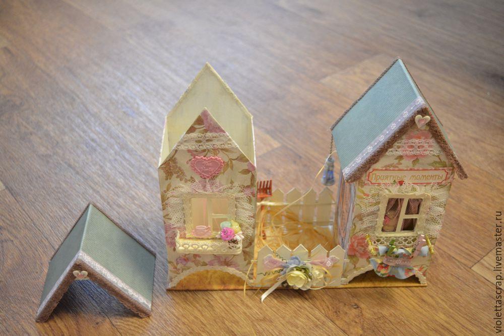Мастер-класс: изготавливаем дуэт из чайных домиков с конфетницей, фото № 17