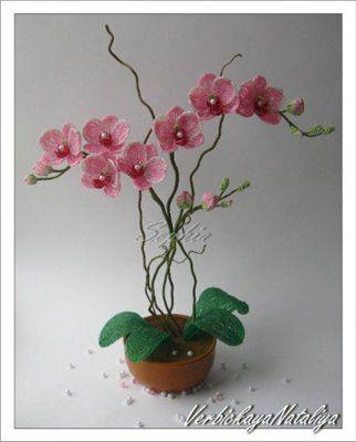 Орхидея с бисера схем