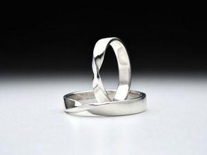 Новинка! Парые кольца серебра Бесконечность.. Ярмарка Мастеров - ручная работа, handmade.