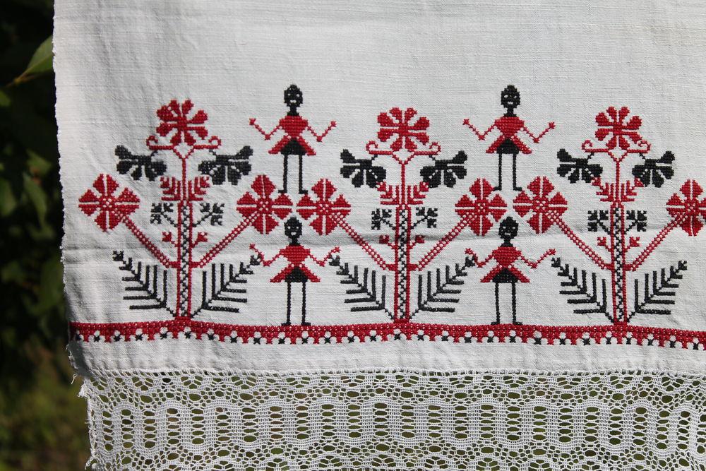 вышивка ручная, славянские обереги, символика, домотканное полотно