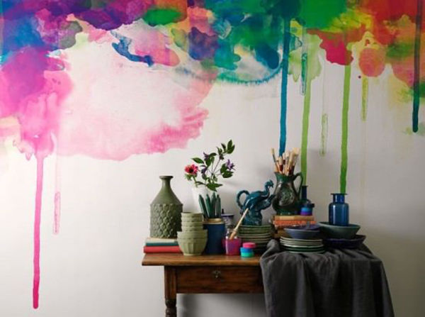 The Tenderest Interior: Abstract Watercolours on Modern Wallpapers, фото № 3