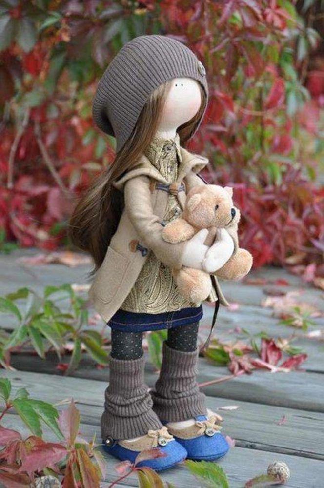 Кукла своими руками с волосами