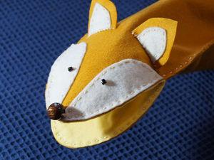 Лисичка на ладошку: шьём игрушку для кукольного театра. Подробный мастер-класс с выкройками. Ярмарка Мастеров - ручная работа, handmade.