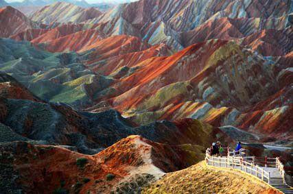Цветные скалы Чжанъе