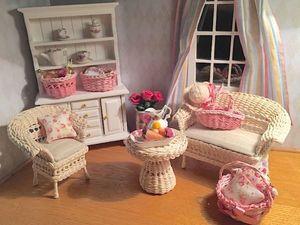 Мебель для кукол плетеная. Ярмарка Мастеров - ручная работа, handmade.