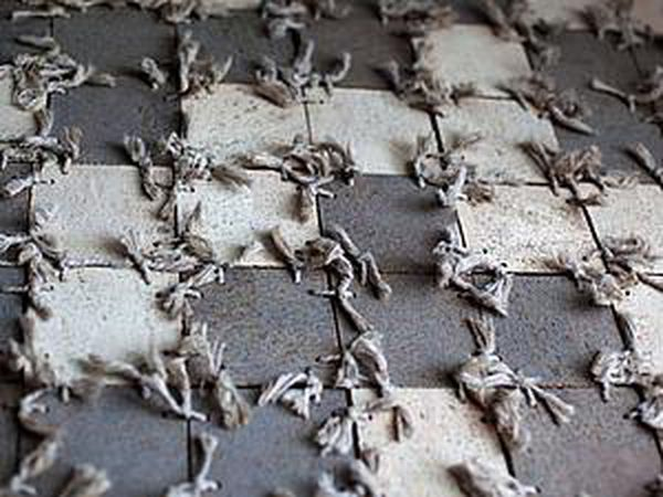 How to Make a Rug of Remains of Laminate and Cord | Livemaster - handmade
