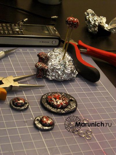 пластика украшения своими руками,  мастер-класс пластика украшения, плетение из проволоки