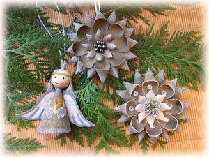Делаем елочные украшения из льняной ткани. Ярмарка Мастеров - ручная работа, handmade.