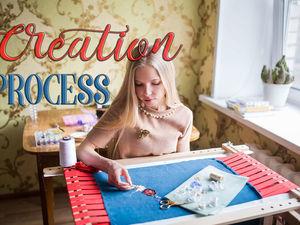 Процесс вышивки. Ярмарка Мастеров - ручная работа, handmade.