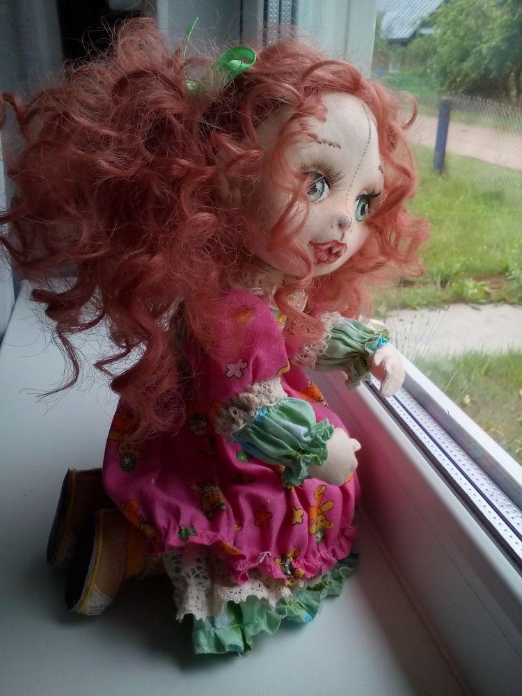 текстильная кукла, дождик