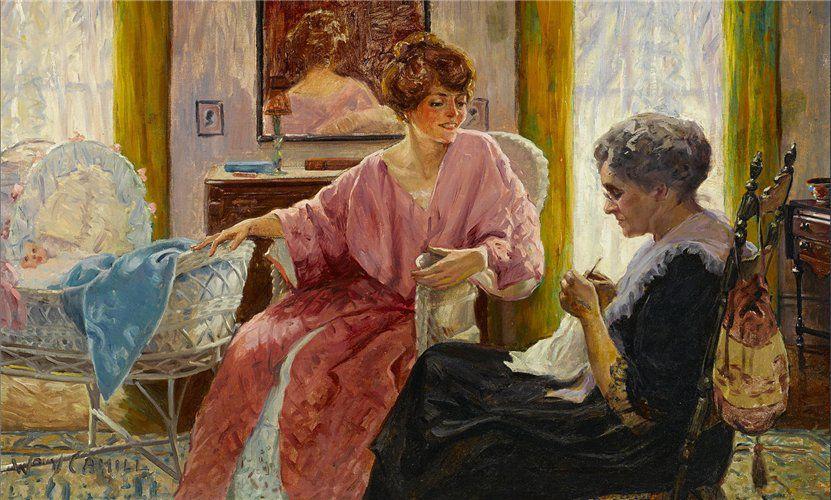 Когда есть чем заняться — стареть некогда: душевные картины о бабушках-рукодельницах, фото № 56