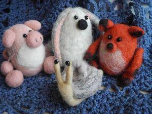 Зверушки-игрушки — мокрое валяние для детей. Ярмарка Мастеров - ручная работа, handmade.