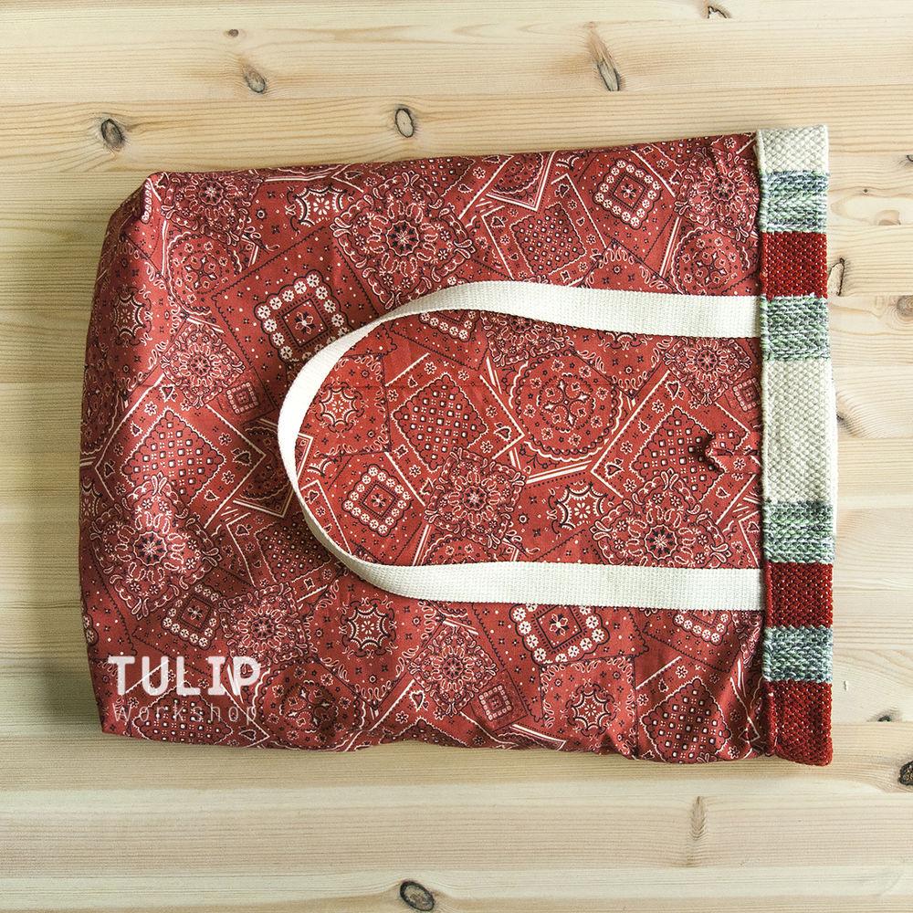 Шьем сумку-шоппер из домотканого коврика без выкройки, фото № 10