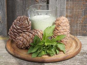 Зеленое кедровое молочко. Ярмарка Мастеров - ручная работа, handmade.