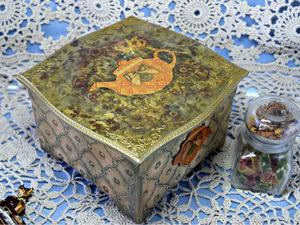 Новая работа во втором магазине - чайный короб. Ярмарка Мастеров - ручная работа, handmade.