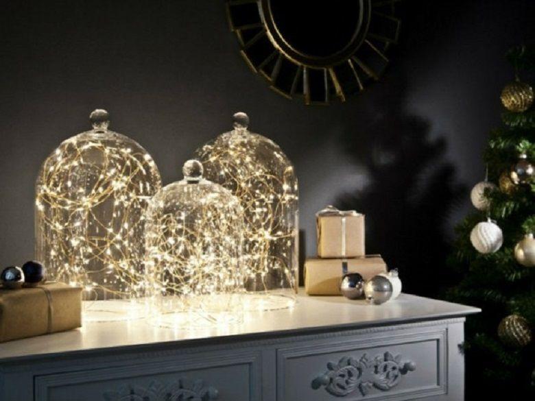 Декор интерьера с помощью новогодних гирлянд