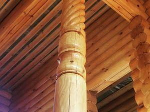 Резные столбы из сосны. Ярмарка Мастеров - ручная работа, handmade.