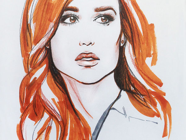 НОВИНКА! Портрет в стиле Fashion- иллюстрации   Ярмарка Мастеров - ручная работа, handmade