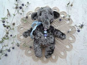 Серый слон как серый день...   :). Ярмарка Мастеров - ручная работа, handmade.