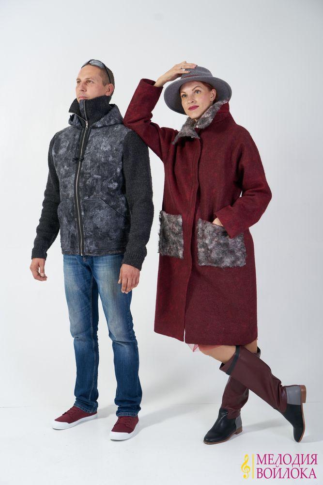 мелодия войлока, зимний войлок, зимняя одежда, валяная одежда для мужчин, теплый войлок, зимняя куртка